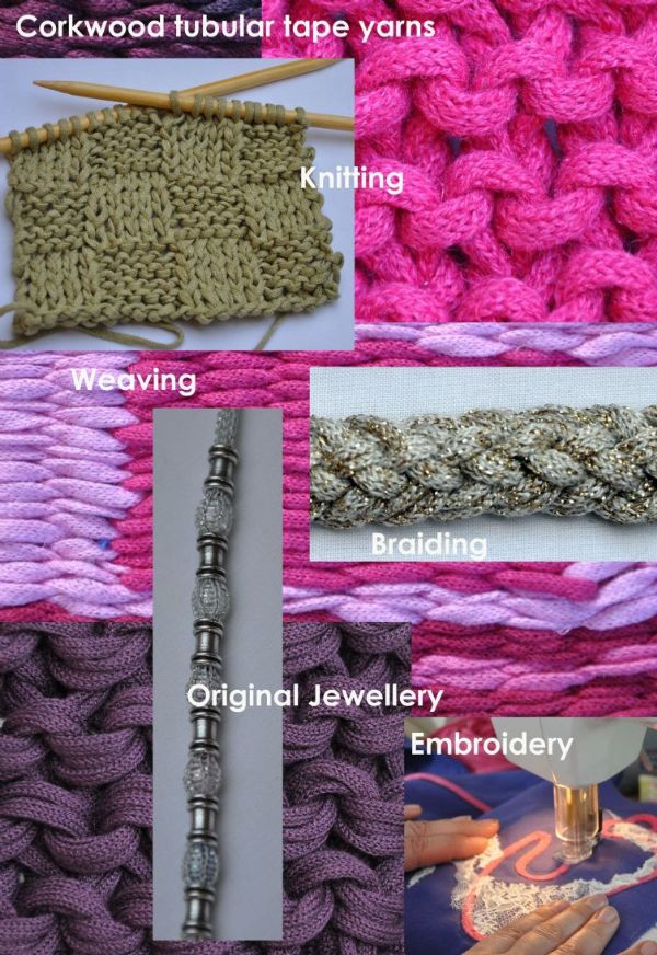 Gold Chunky Tape yarn for knitting weaving and embellishing